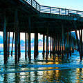 Sunset At Pismo Beach Pier by Barbara Snyder