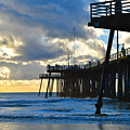 Sunset At Pismo Pier by Barbara Snyder