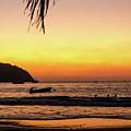 Sunset At Playa La Ropa by Tina Ernspiker
