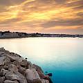 Sunset At Plymouth Harbor by Matt Suess