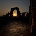 Sunset At Qutab Minar by V Naveen Kumar