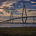 Sunset At Ravenel Bridge by Rick Berk