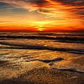 Sunset At Saint Petersburg Beach by Eyzen M Kim