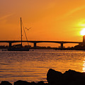 Sunset At Sarasota Bayfront Park by Susan Molnar
