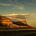 Sunset At Scotts Bluff National Monument by Edward Peterson