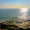 Sunset At Sea Santa Cruz Ca by Liz Santie