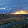Sunset At Snake River Canyon 1 by Judy Wanamaker