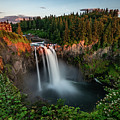 Sunset At Snoqualmie Falls by Jeongrae Cho