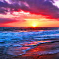 Sunset At Strands Beach by Mariola Bitner