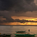 Sunset At Tabuena Beach 2 by George Cabig