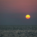 Sunset At The Beach Cape May Nj by Terry DeLuco