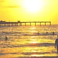 Sunset At The Beach by Corey Maki
