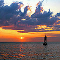 Sunset At The Bell Buoy by Charles Harden