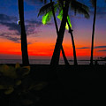 Sunset At The Big Island Of Hawaii by James O Thompson