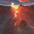 Sunset At The Canyon by Gaspar Avila