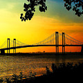 Sunset At The Delaware Memorial Bridge by Nick Zelinsky