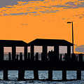 Sunset At The Fishing Pier by David Lee Thompson