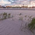 Sunset At The Historic Galveston Pleasure Pier - Texas Gulf Coast by Silvio Ligutti