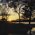 Sunset At The Lake by Phyllis Taylor
