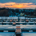 Sunset At The Marina In Winter by Ray Sheley