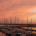 Sunset At The Marina by Linda Eszenyi