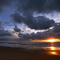 Sunset At The Strand by Kim Michaels