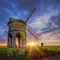 Sunset At The Windmill by Fiona Smith