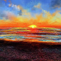Sunset At Torrey Pines by Lourry Legarde