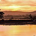 Sunset At Triabunna Tasmania by Lexa Harpell