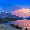 Sunset At Waterton Lakes National Park by Alan Dyer
