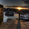 Sunset At West Bay Harbour by Rob Hawkins
