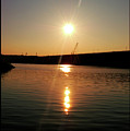 Sunset At Wolf Creek Dam by Amber Flowers