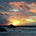 Sunset Bandon By The Sea by Bob Christopher