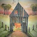 Sunset Barn  by Diane Palmer