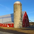 Sunset Barn With Silo by Donna Cavanaugh