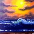 Sunset Beach by Dina Sierra