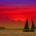 Sunset Behind The Clouds by Susanne Van Hulst