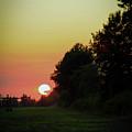 Sunset Between Crops 4387 H_2 by Steven Ward