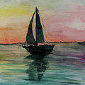 Sunset Boat 1 by Yael Ungar