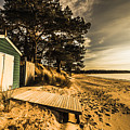 Sunset Boat Shed by Jorgo Photography - Wall Art Gallery