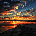 Sunset Bridge At Indian River Inlet by Bill Swartwout Fine Art Photography