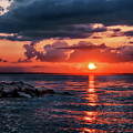 Sunset By The Jetty by Mark Miller