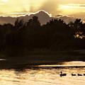 Sunset By The Lake by Angel Ciesniarska