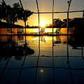 Sunset By The Pool by Robert Meanor