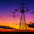 Sunset By The Wires by Nick Zelinsky