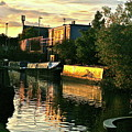 Sunset Canal Reflections by Steve Swindells