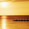 Sunset Canoe by Vince Cavataio - Printscapes