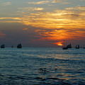 Sunset Celebration Key West Fl by Deborah Squires