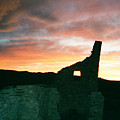 Sunset Chaco Canyon by Chester Taplette
