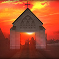 Sunset Church by Gravityx9   Designs